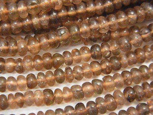 宝石質アンダルサイトAAA ロンデル(ボタン)3〜3.5mm 1連(約32cm)