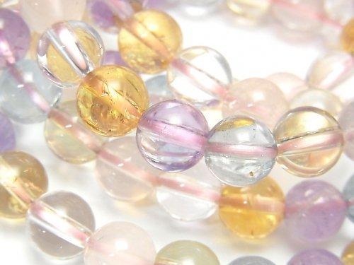 【動画】宝石質いろんな天然石AAA- ラウンド8mm 1連(ブレス)