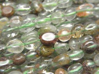 天然石卸 1連580円!ガーデンクォーツAA++ タンブル 1連(約36cm)