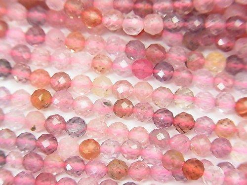 【素晴らしい輝き】宝石質マルチカラースピネルAAA' ラウンドカット3mm 半連/1連(約38cm)