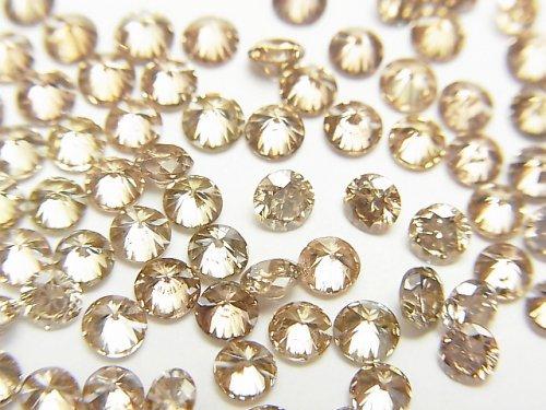 ブラウンダイヤモンド ラウンドファセットカット3×3mm 1粒