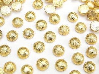 メテオライト(ムオニナルスタ隕石) ラウンド カボション6×6mm イエローゴールド 1個780円!