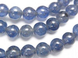 天然石卸 1連6,980円!宝石質サファイアAAA- ラウンド6.5mm 1連(ブレス)