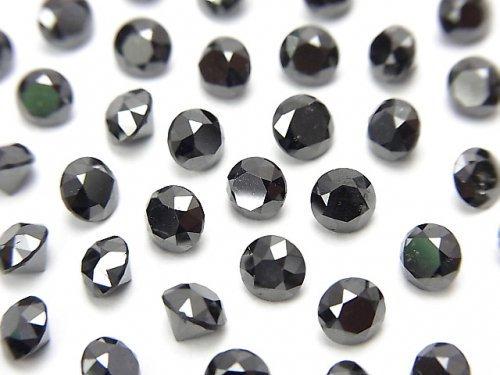 ブラックダイヤモンドAAA ラウンドファセットカット4×4mm 1粒