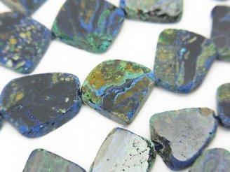 天然石卸 1連2,980円!アズライト(アズマラカイト)AA++ スライスタンブル 1連(約18cm)
