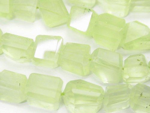 宝石質プレナイトAAA' タンブルカット 半連/1連(約38cm)