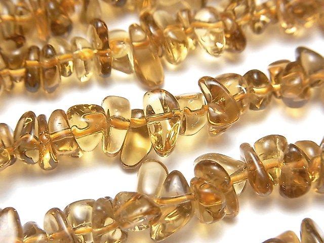 宝石質ビアクォーツAAA チップ(ミニタンブル) 1連(約38cm)