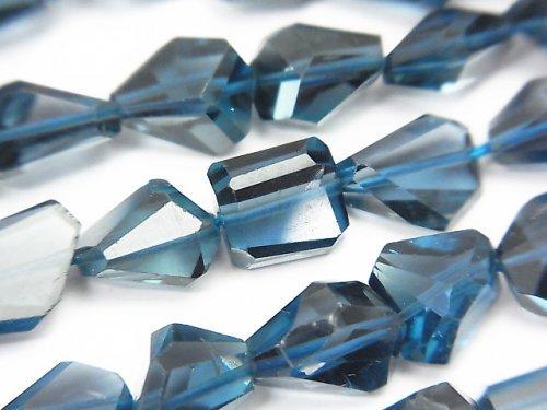 宝石質ロンドンブルートパーズAAA タンブルカット 5粒〜1連(約38cm)