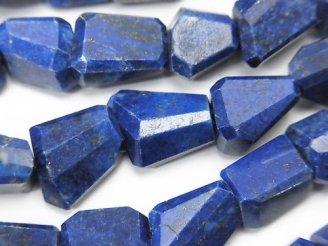 天然石卸 ラピスラズリAA++ タンブルカット 半連/1連(約38cm)