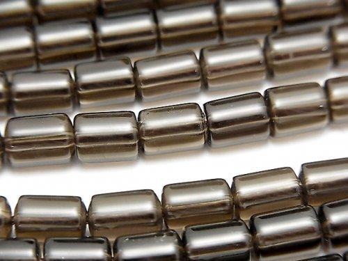 スモーキークォーツAA++ チューブ7×5×5mm 1連(約38cm)