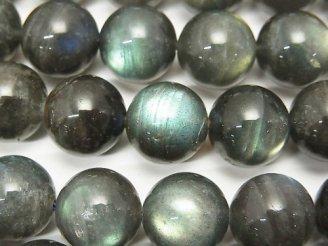 天然石卸 ラブラドライトAA++ ラウンド12mm 半連/1連(約37cm)