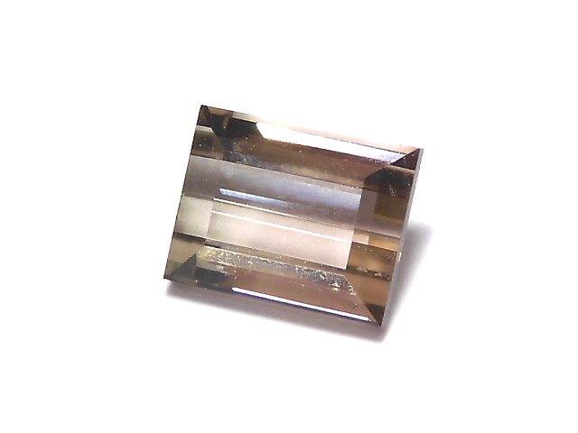 【1点もの】ナイジェリア産宝石質バイカラートルマリンAAA ファセットカット 1粒 NO.63