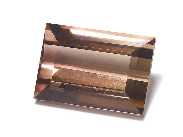 【1点もの】ナイジェリア産宝石質バイカラートルマリンAAA ファセットカット 1粒 NO.62