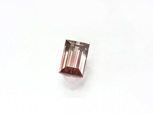 【1点もの】ナイジェリア産宝石質バイカラートルマリンAAA ファセットカット 1粒 NO.60