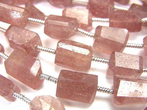 宝石質ピンクエピドートAA++ タンブルカット 1連(約17cm)