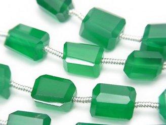 天然石卸 1連1,480円!宝石質グリーンオニキスAAA タンブルカット 1連(約17cm)