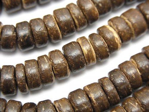 ココナッツ ロンデル8×8×3mm ブラウン 1連(約37cm)