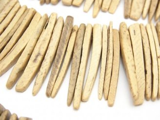 天然石卸 1連420円!ココナッツ スティック ナチュラルカラー クレオ穴 1連(約38cm)