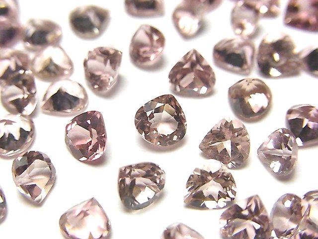 宝石質ピンクトルマリンAAA 穴なしマロンファセットカット5×5mm 4粒1,980円!