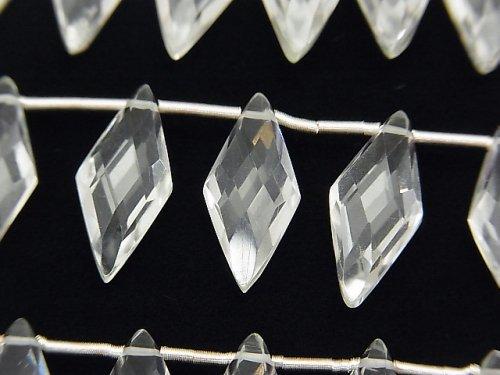 宝石質クリスタルAAA' ダイヤカット18×8mm 1連(約13cm)