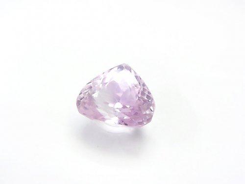 【1点もの】宝石質クンツァイトAAA マロン型ファセットカット 1粒 NO.127