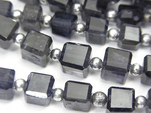 宝石質アイオライトAA++ キューブカット 1連(約18cm)