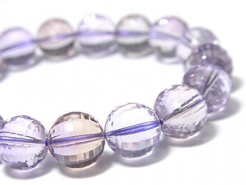 【1点もの】宝石質アメトリンAAA- ミラーラウンドカット12mm 1連(ブレス) NO.76