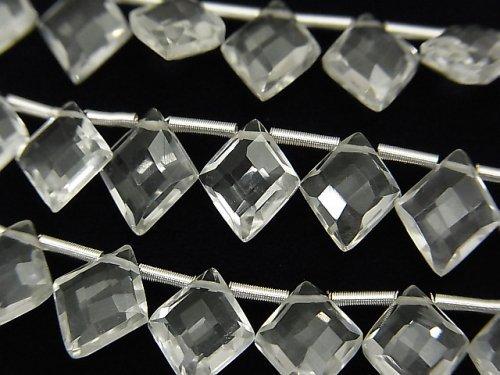 宝石質クリスタルAAA ダイヤカット10×8mm 半連/1連(22粒)