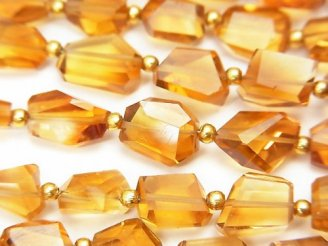 天然石卸 1連2,680円!宝石質ブランデーシトリンAAA タンブルカット 1連(約18cm)