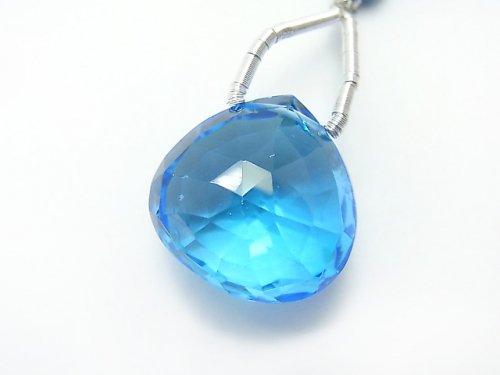 ◆特価◆【動画】【1点もの】希少!宝石質スイスブルートパーズAAAA 大粒マロン ブリオレットカット 1粒 NO.67