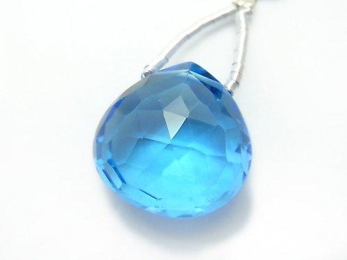 【動画】【1点もの】希少!宝石質スイスブルートパーズAAAA 大粒マロン ブリオレットカット 1粒 NO.68