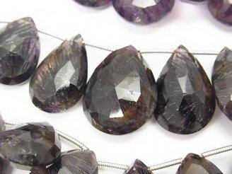 天然石卸 1連2,980円〜!宝石質エレスチャルクォーツAA++ ペアシェイプ ブリオレットカット 1連(約17cm)