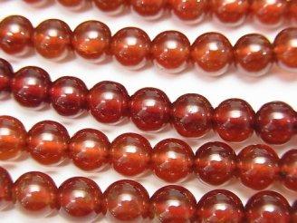 天然石卸 1連1,980円!宝石質ヘソナイトAAA ラウンド6〜5.5mm 1連(約50cm)