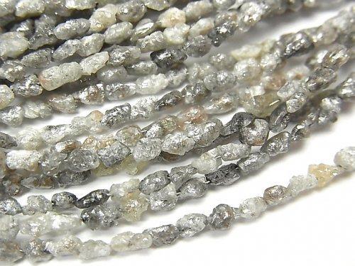 グレーダイヤモンド ラフタンブル 半連/1連(約40cm)