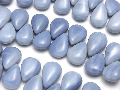 アフリカ産ブルーオパール ペアシェイプ(プレーン) 半連/1連(約18cm)