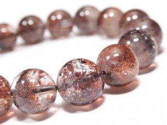 天然石卸 1点もの!高品質レピドクロサイトインクォーツAAA ラウンド11mm 1連(ブレス) NO.53