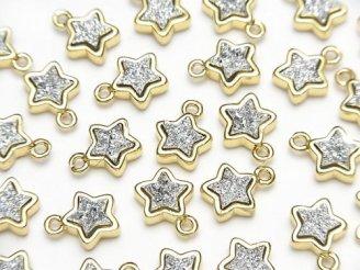天然石卸 ドゥルージーアゲート スター(星)モチーフ チャーム8×8mm シルバーカラー 2個480円!