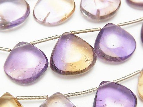 宝石質アメトリンAA++ マロン(プレーン) 1連(約18cm)