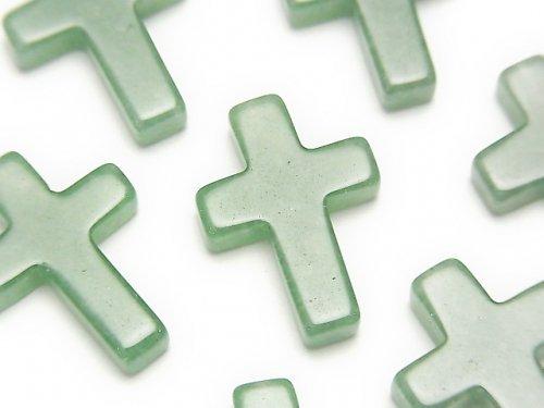 グリーンアベンチュリン クロス20×15mm 1個