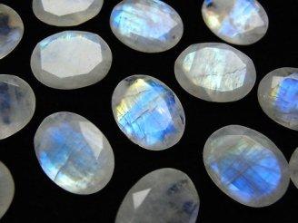 宝石質レインボームーンストーンAA++ 穴なしオーバルファセットカット16×12mm 2粒1,480円!