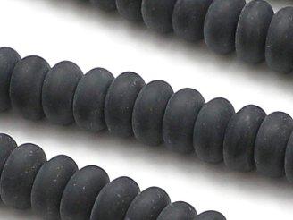 天然石卸 1連780円!フロストオニキス ロンデル(ボタン)8×8×4mm 1連(約38cm)