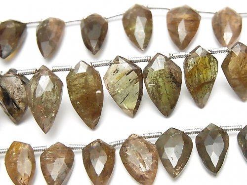 宝石質アンダリュサイトAA++ 変形マーキスカット 1連(約18cm)