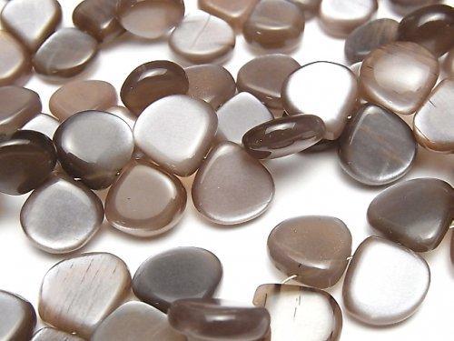 宝石質チョコレートムーンストーンAAA- マロン(プレーン) 半連/1連(約14cm)の画像