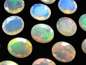 天然石卸 宝石質エチオピア産オパールAAA オーバルファセットカット12×10mm 1粒2,480円!