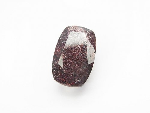 【1点もの】宝石質ブラジル産ゲーサイトインクォーツAAA ファセットカット 1粒 NO.21