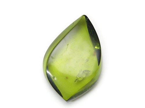 【1点もの】グリーンアンバー(琥珀) 大粒穴なしマーキス NO.108