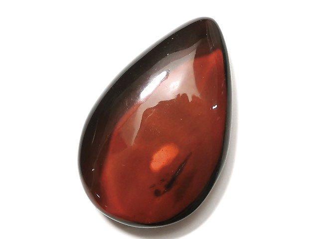 【1点もの】バルティックアンバー(琥珀) 穴なしペアシェイプ38×25mm ブラウン 1粒 NO.81