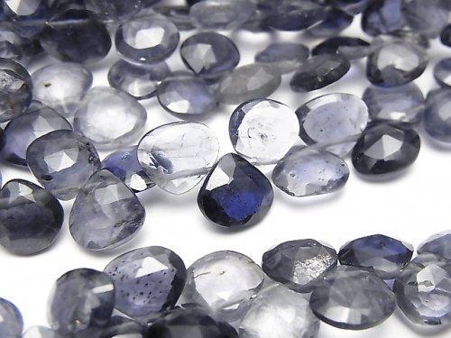 【動画】宝石質アイオライトAA++ マロン ブリオレットカット 1連(約18cm)