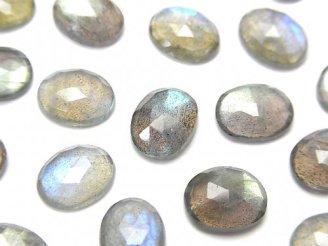 天然石卸 宝石質ラブラドライトAAA- オーバル ローズカット10×8mm 4個1,280円!