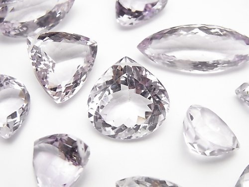 宝石質ピンクアメジストAAA ミックスシェイプ ファセットカット 4粒